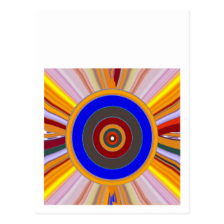 FOCUS Tool: Yoga Meditation Color Wheel DOT Postcard