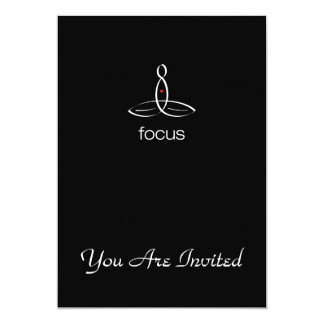 Focus - White Regular style 13 Cm X 18 Cm Invitation Card