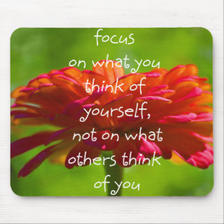 FOCUS YOURSELF, NOT OTHERS mousepad