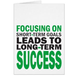 Focusing on Success Card