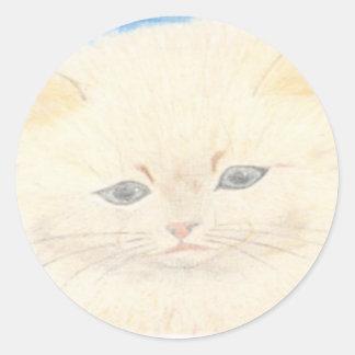 Fofinho cat classic round sticker