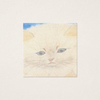 Fofinho cat square business card