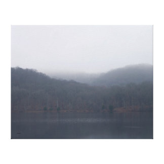 Fog at Randor Lake Canvas Print