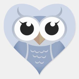 """Fog-Blue OWL"" Heart Sticker"