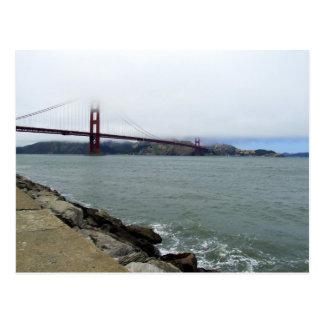 Fog Covered Golden Gate Postcard