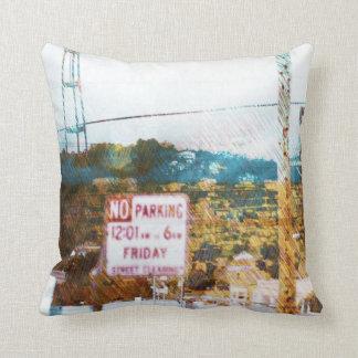 Fog Crazy in Twin Peaks - San Francisco Throw Pillows