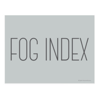 Fog Index Postcard