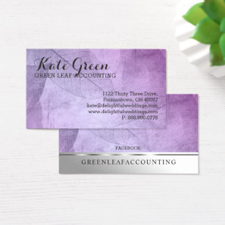 FOG Leaves Leaf Purple Professional Nature Elegant Business Card