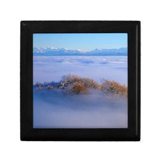 Fog sea in law, Swiss alps, Switzerland Gift Box