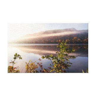 "Fog Striped Reflection -Choose Size- .75"" Canvas Print"