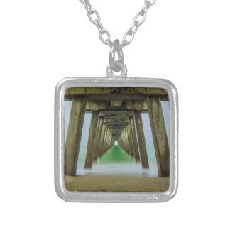 Fogged Down Silver Plated Necklace
