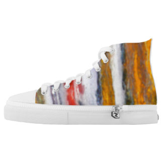 Foggy autumn forest printed shoes