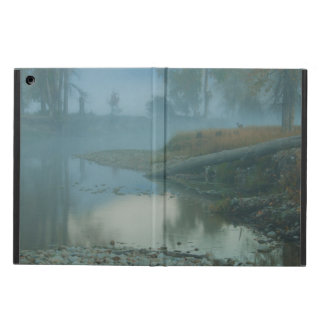 Foggy Bitterroot River Morning Design iPad Air Covers