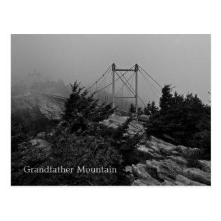 Foggy Bridge Grandfather Mountain Postcard