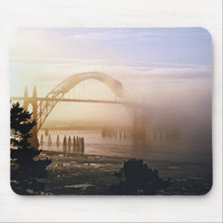 Foggy Bridge Mouse Pad