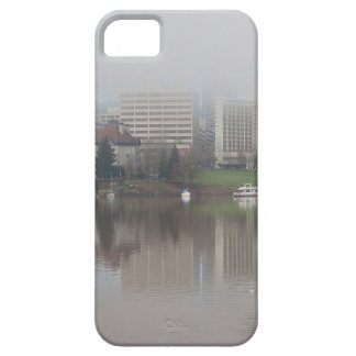 Foggy Day along Portland OR Waterfront Panorama iPhone 5 Case