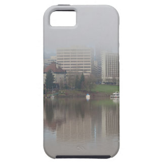 Foggy Day along Portland OR Waterfront Panorama Tough iPhone 5 Case