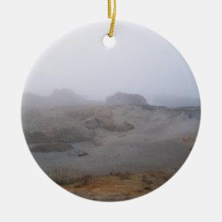 Foggy Day Ceramic Ornament