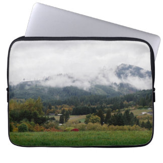 Foggy day in Woodland Laptop Sleeve