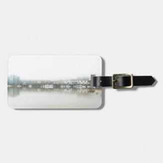 Foggy Day on Portland OR Downtown Waterfront Luggage Tag
