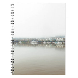 Foggy Day on Portland OR Downtown Waterfront Notebook