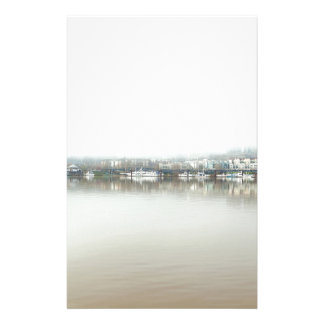 Foggy Day on Portland OR Downtown Waterfront Stationery