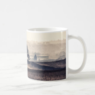 Foggy Fields Landscape Coffee Mug