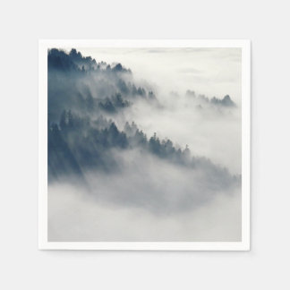 Foggy forest paper napkins