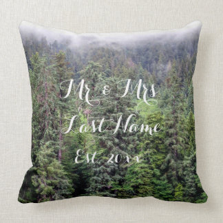 Foggy Forest Pillow