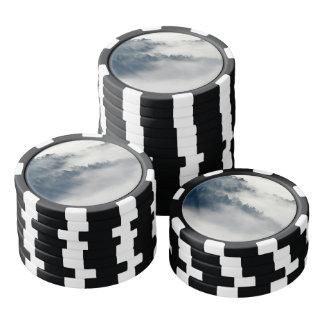 Foggy forest poker chips