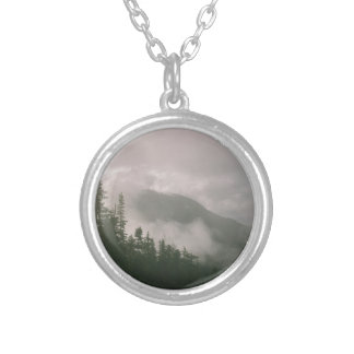 Foggy Forest Silver Plated Necklace