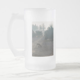 Foggy Grazing Frosted Glass Beer Mug