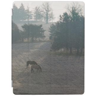 Foggy Grazing iPad Cover