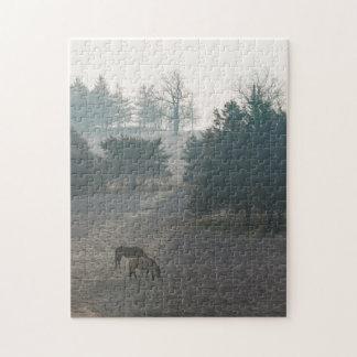 Foggy Grazing Jigsaw Puzzle