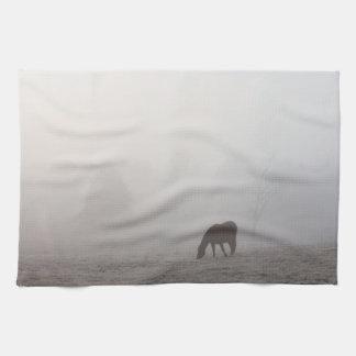 Foggy Grazing Tea Towel