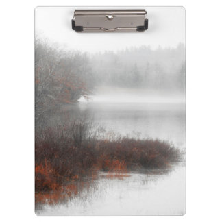 Foggy Lake on a Winter Day Clipboard