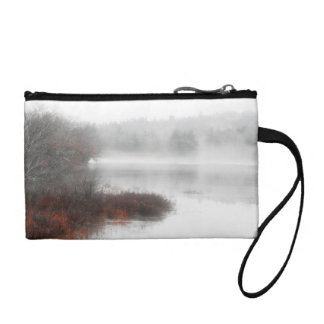 Foggy Lake on a Winter Day Coin Purse