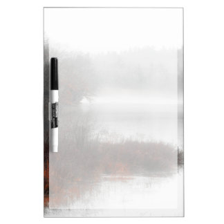 Foggy Lake on a Winter Day Dry Erase Board