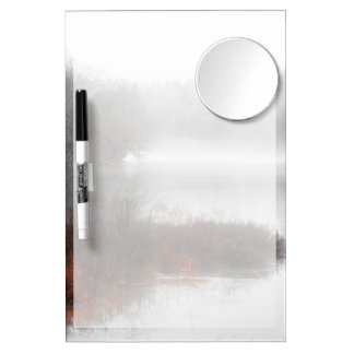 Foggy Lake on a Winter Day Dry Erase Board With Mirror