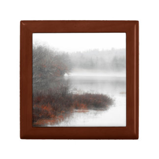 Foggy Lake on a Winter Day Gift Box