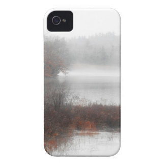 Foggy Lake on a Winter Day iPhone 4 Case-Mate Case