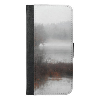Foggy Lake on a Winter Day iPhone 6/6s Plus Wallet Case