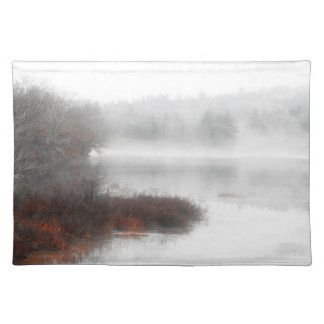 Foggy Lake on a Winter Day Placemat
