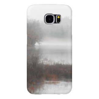 Foggy Lake on a Winter Day Samsung Galaxy S6 Cases