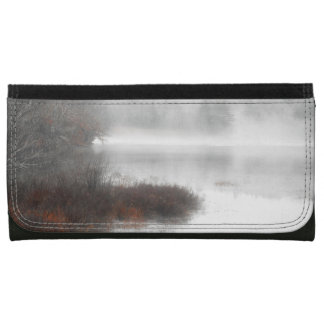 Foggy Lake on a Winter Day Wallet