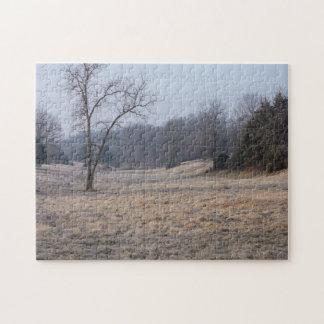 Foggy Meadow Jigsaw Puzzle