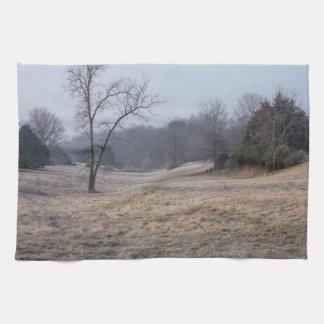 Foggy Meadow Tea Towel