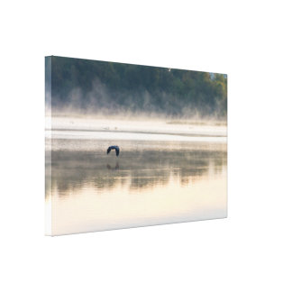 Foggy Morning Flight Canvas Print
