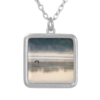 Foggy Morning Flight Silver Plated Necklace