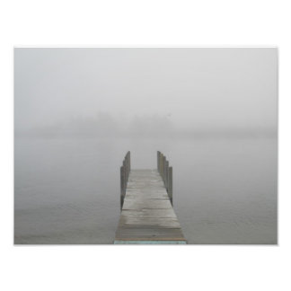 Foggy morning photo print